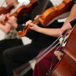 String quartet performing musical event